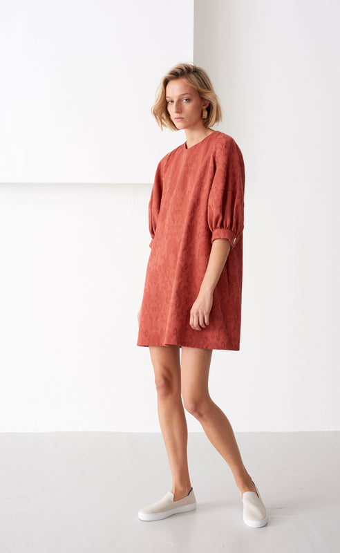MARLOWE RUST DRESS