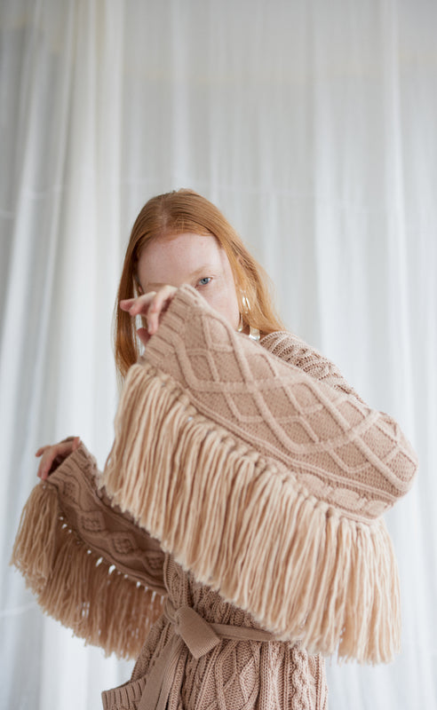 WILLOW TAN KNIT CARDIGAN