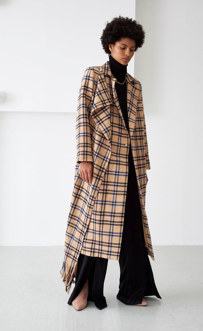 ROWAN TAN CHECK COAT