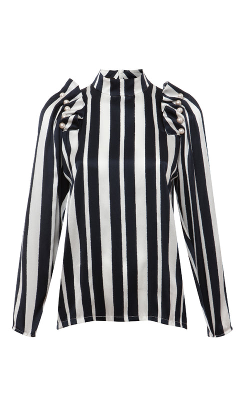 SENNA NAVY STRIPED BLOUSE