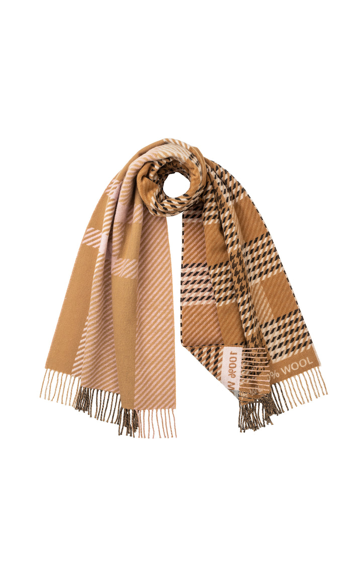 THE ELGIN SCARF- MOTHER OF PEARL X THE CAMPAIGN FOR WOOL