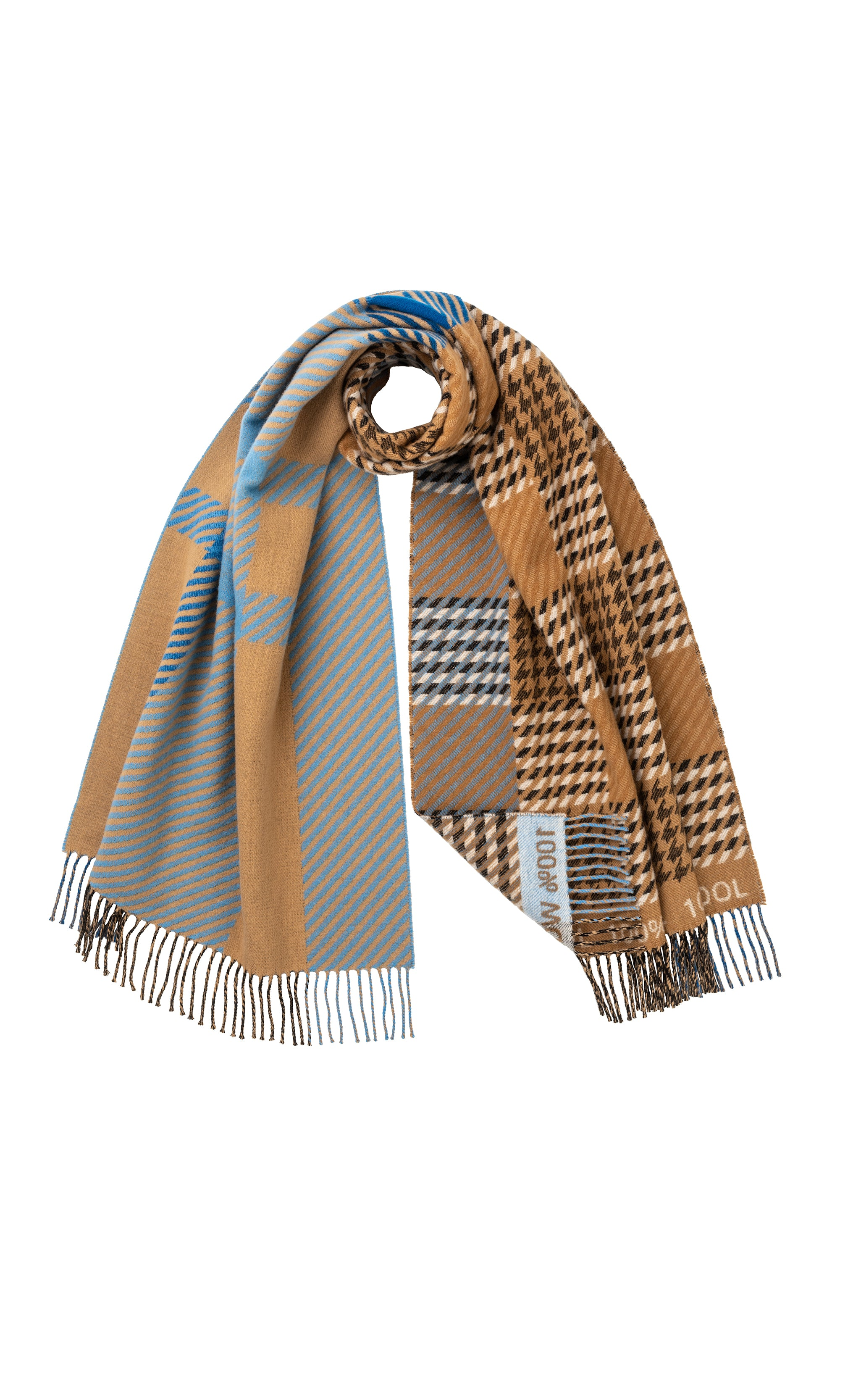 THE DERWENT SCARF- MOTHER OF PEARL X THE CAMPAIGN FOR WOOL