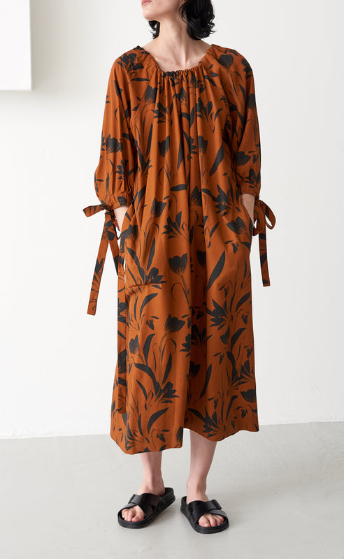 ZARIAH BOTANICAL RUST DRESS