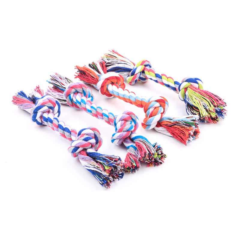 6.6in Cotton Toy Rope Knot for Dogs