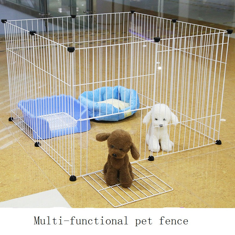 Strong Iron Pet Fence For Cats And Dogs - White 4 Piece
