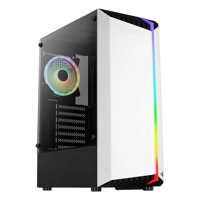 AeroCool Bionic ARGB Mid Tower Case White