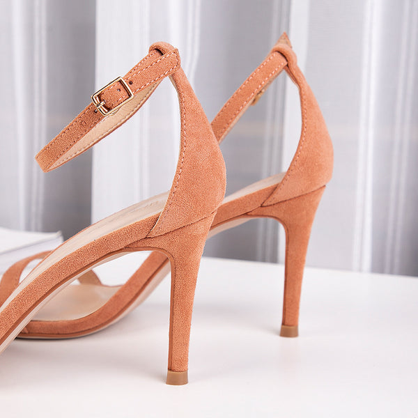 Fu No. heeled sandals female fairy wind 2019 new European and American women's shoes women sandals