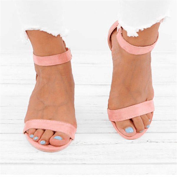 Women Sandals Open Toe Summer Shoes Female big Size 43码凉鞋