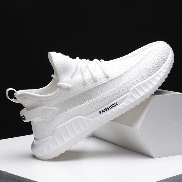 Vibrato with models of men's shoes 2020 Korean men's lightweight non-slip movement of large size fly weave casual shoes