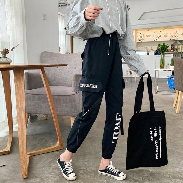 Western style 2019 summer new high waist printing wear nine points leisure trousers W700