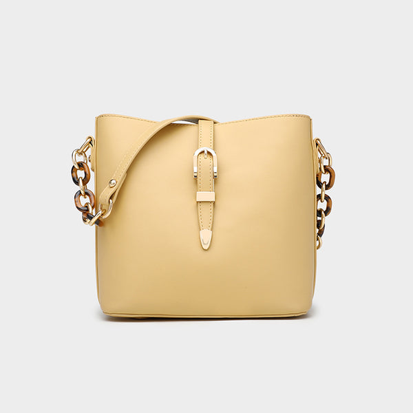 Golden Chain Simplistic Leather Handbag