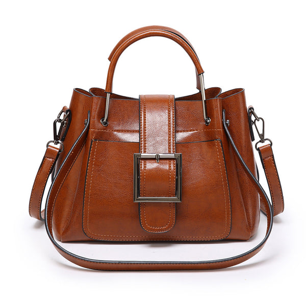 Factory direct sale 2019 summer new women's bag Korean Trend women's Single Shoulder Bag Fashion messenger oil leather bag