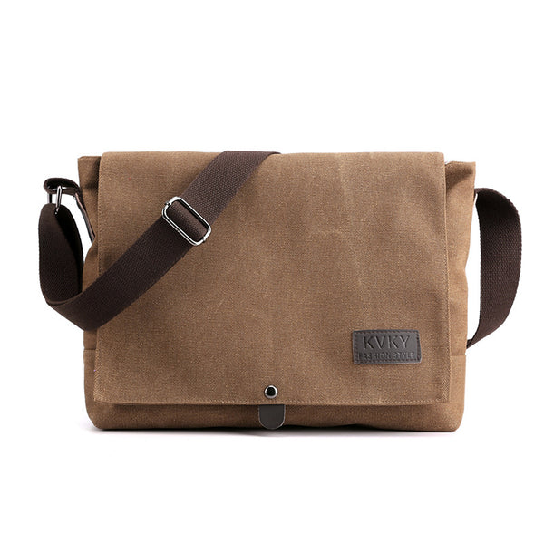 Large capacity canvas bag man shoulder messenger bag minimalist and more young people with a backpack new fashion messenger bag diagonal
