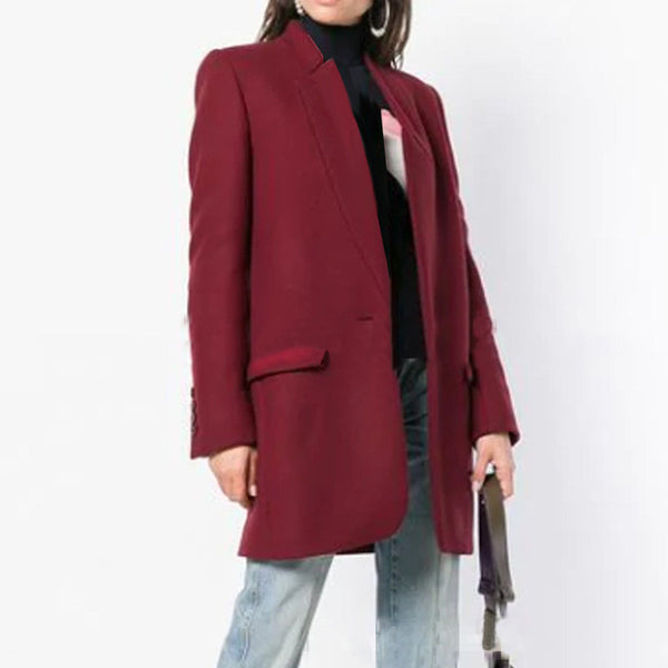 2019 Ms. European and American cross-border collar Slim double-sided it woolen coat women windbreaker woolen coat female