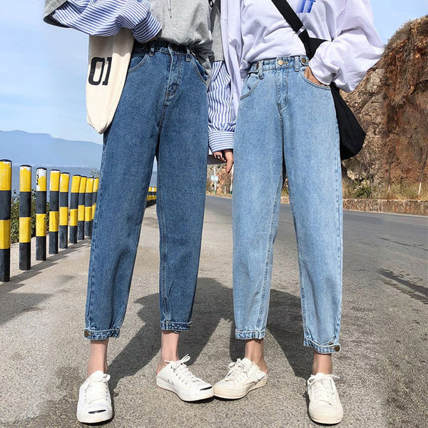 2020 new spring models was thin women Sakurada Kawashima father Harlan jeans loose straight WTA red with money