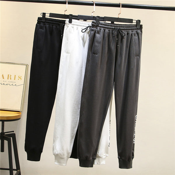 Large size women fat girls stretch pants 200 pounds of loose, casual harem pants shut Wei pants fashion 8215
