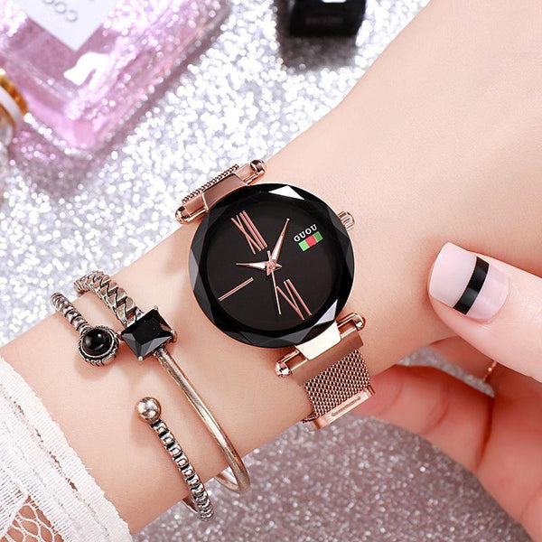 Trendinggate.com Black 2018New ancient Watch women's simple fashion trend women's watch waterproof net red shake sound the same generation