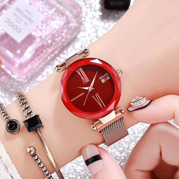 Trendinggate.com Red 2018New ancient Watch women's simple fashion trend women's watch waterproof net red shake sound the same generation