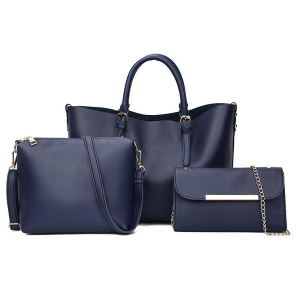 Trendinggate.com 2018New Kind of Women's Bag Fashion Korean Fashion Chain Three-piece Kit Bag One Shoulder Slant Leisure Lady's Bag
