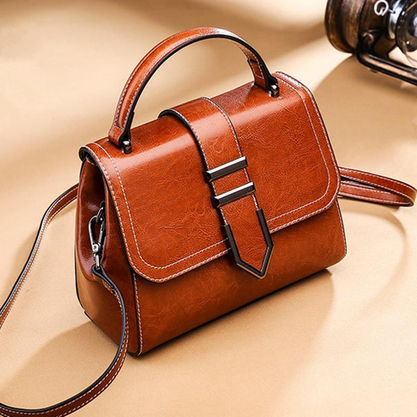 Trendinggate.com 2018Spring women's handbags women's shoulder bags Korean version of Joker real leather bags women's minimalist fashion ebay a generation of hair