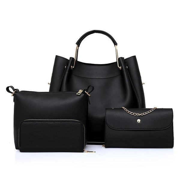 Trendinggate.com black 2019 Four sets of foreign trade for lady bags for export to Africa for spring new bags for lady bags 2019