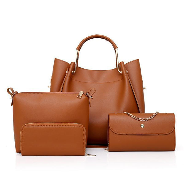 Trendinggate.com brown 2019 Four sets of foreign trade for lady bags for export to Africa for spring new bags for lady bags 2019