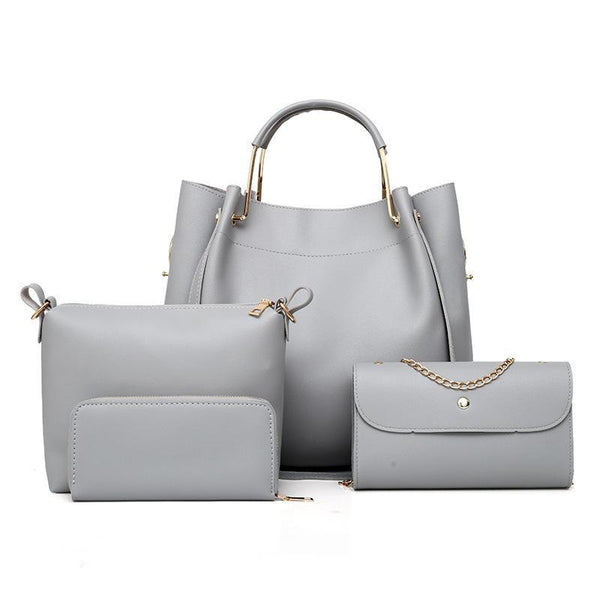 Trendinggate.com gray 2019 Four sets of foreign trade for lady bags for export to Africa for spring new bags for lady bags 2019