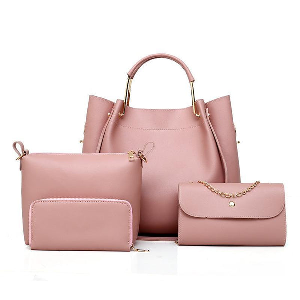 Trendinggate.com Pink 2019 Four sets of foreign trade for lady bags for export to Africa for spring new bags for lady bags 2019