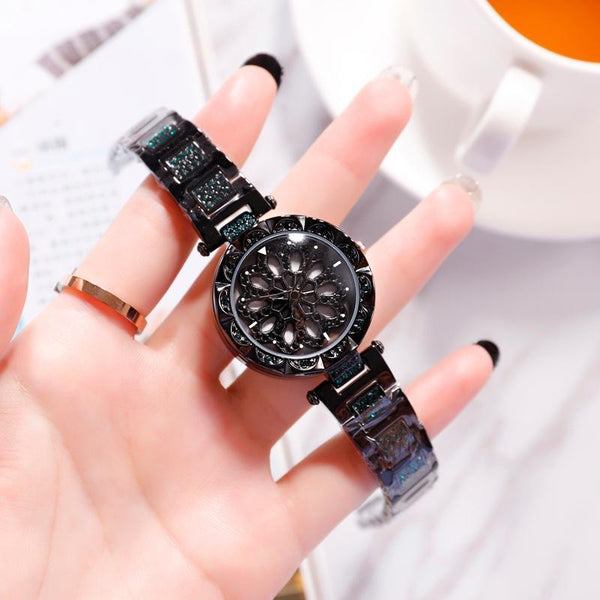 Trendinggate.com black 2019 hot sale models YJ6 full drill when running watch women shaking voice net red with ladies watches