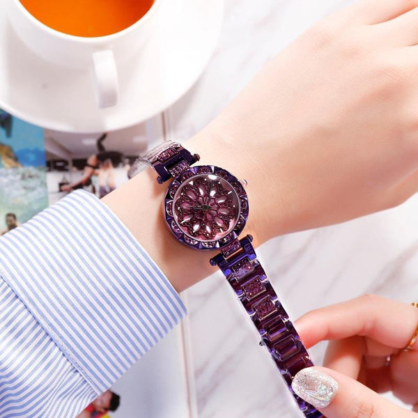 Trendinggate.com purple 2019 hot sale models YJ6 full drill when running watch women shaking voice net red with ladies watches