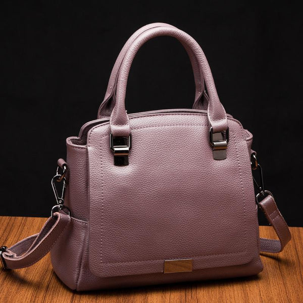 Trendinggate.com Taro purple 2019Europe and the United States new leather women's handbag strap leather one-shoulder slanted fashion women's bag Guangzhou manufacturers