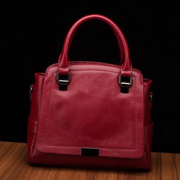 Trendinggate.com Wine red 2019Europe and the United States new leather women's handbag strap leather one-shoulder slanted fashion women's bag Guangzhou manufacturers