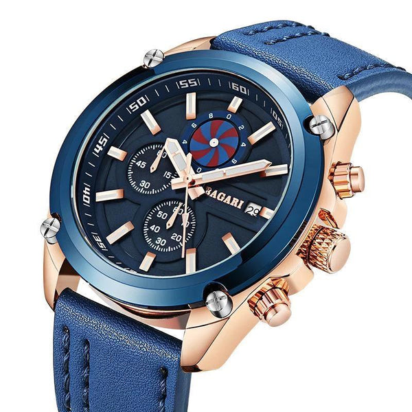 Trendinggate.com 2019factory-direct, multi-functional, sports watch, men's latest explosion-proof leather waterproof watch, watches