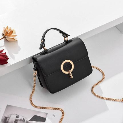 Trendinggate.com black 2019In the new summer, the small bag is foreign fashion oblique satchel ins super fire network celebrity Xiaofang bag carries the oblique satchel bag by hand.