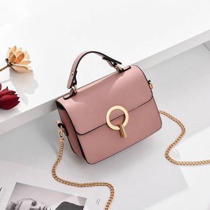 Trendinggate.com Pink 2019In the new summer, the small bag is foreign fashion oblique satchel ins super fire network celebrity Xiaofang bag carries the oblique satchel bag by hand.