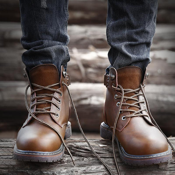 Trendinggate.com 2019New autumn and winter men's Omar Martin boots help leather boots warm men's boots snow boots tide shoes
