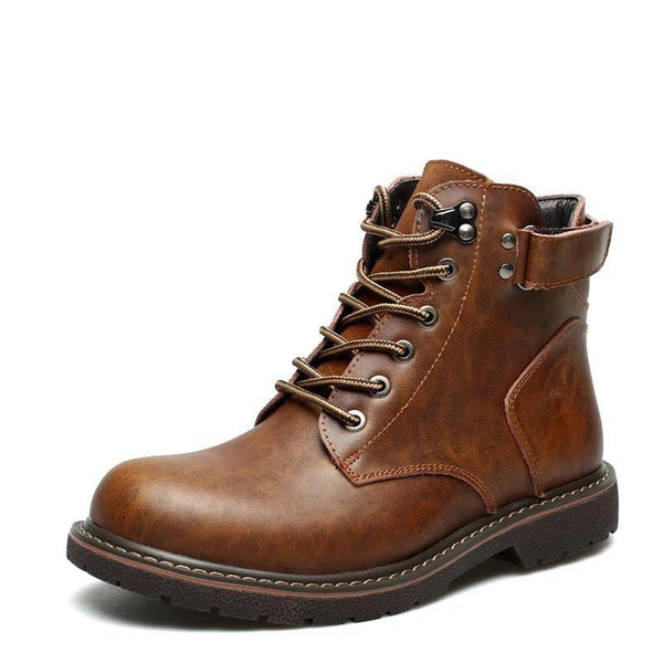 Trendinggate.com Velvet-Mad Horse Brown / 38 2019New autumn and winter men's Omar Martin boots help leather boots warm men's boots snow boots tide shoes