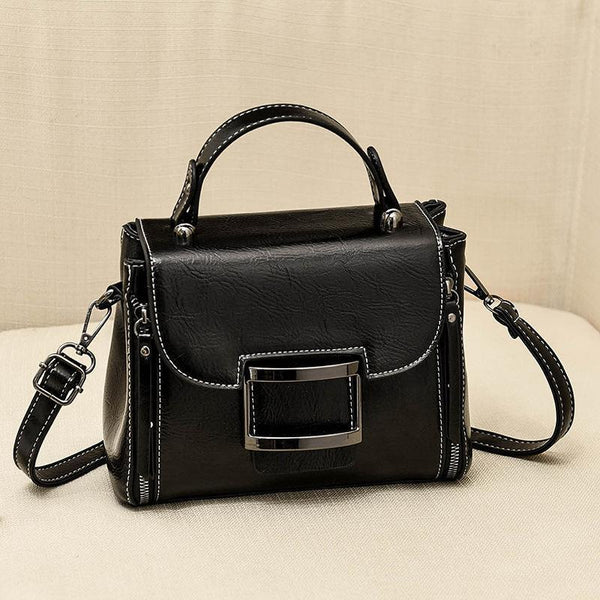 Trendinggate.com Black 2019New Fashion Summer Bag Korean Version Retro Port Wind Hand Slant Bag Texture Boston Bags