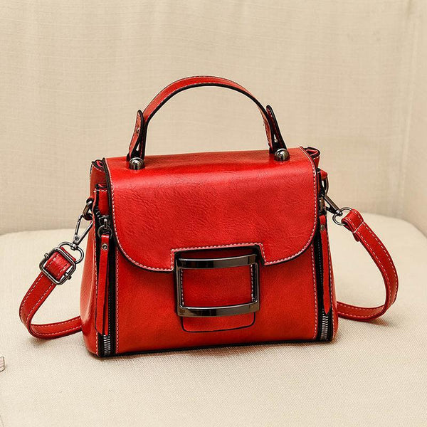 Trendinggate.com gules 2019New Fashion Summer Bag Korean Version Retro Port Wind Hand Slant Bag Texture Boston Bags
