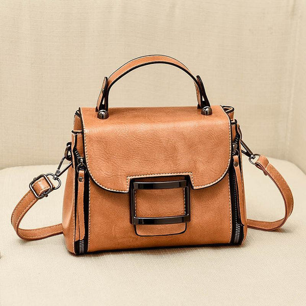 Trendinggate.com [medicine]khaki 2019New Fashion Summer Bag Korean Version Retro Port Wind Hand Slant Bag Texture Boston Bags