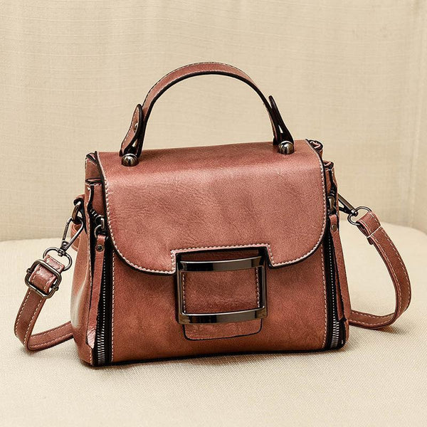 Trendinggate.com Pink 2019New Fashion Summer Bag Korean Version Retro Port Wind Hand Slant Bag Texture Boston Bags