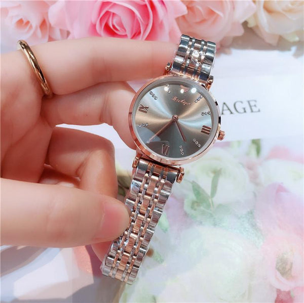Trendinggate.com 间金灰面 2019New lady's All-Star watch Taobao tremble net popular fashion steel band waterproof watch watches