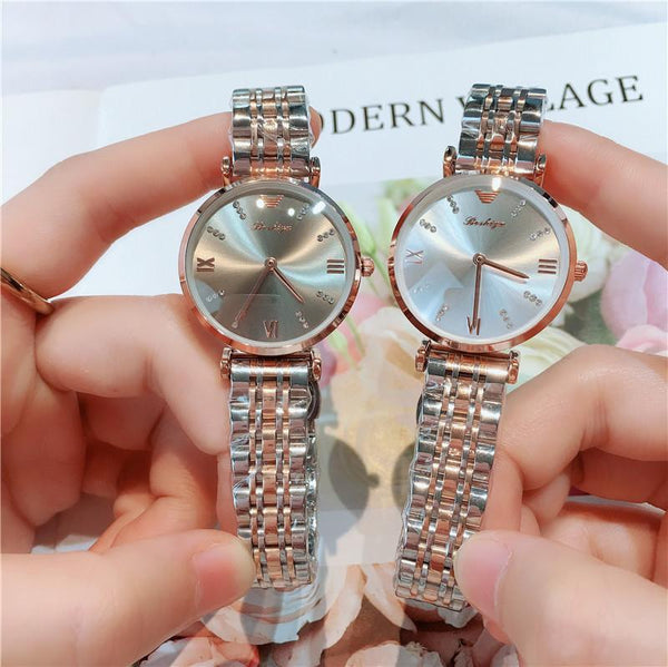 Trendinggate.com 2019New lady's All-Star watch Taobao tremble net popular fashion steel band waterproof watch watches