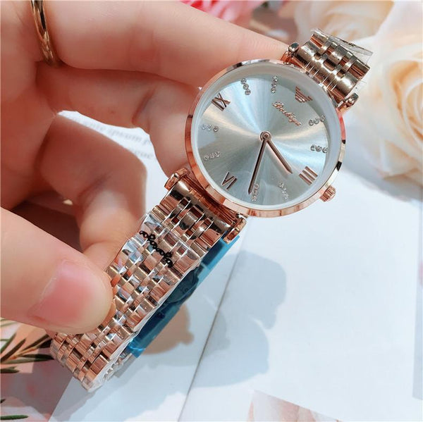 Trendinggate.com Full rose gold and white noodles 2019New lady's All-Star watch Taobao tremble net popular fashion steel band waterproof watch watches