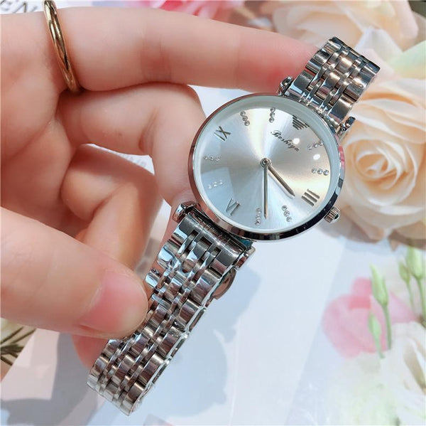 Trendinggate.com Silver flour 2019New lady's All-Star watch Taobao tremble net popular fashion steel band waterproof watch watches