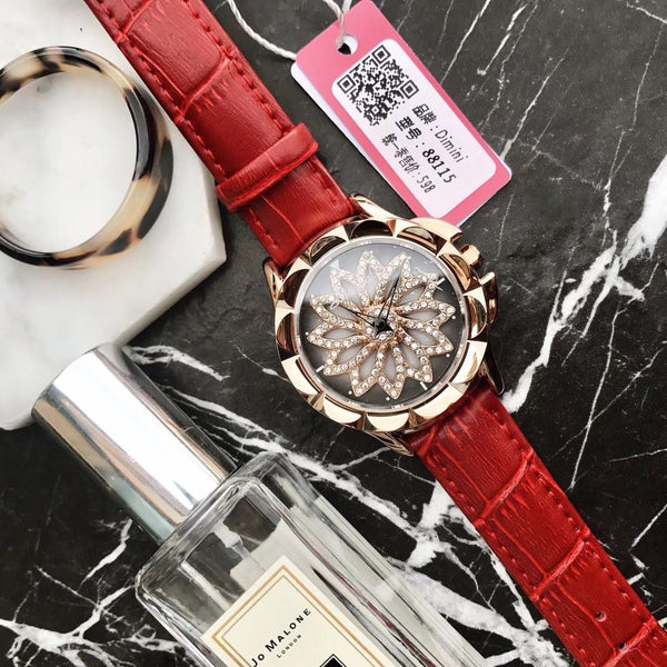 Trendinggate.com Red 2019New Martha's time to run the watch female YJ Six fashion trend waterproof student atmospheric minimalist female