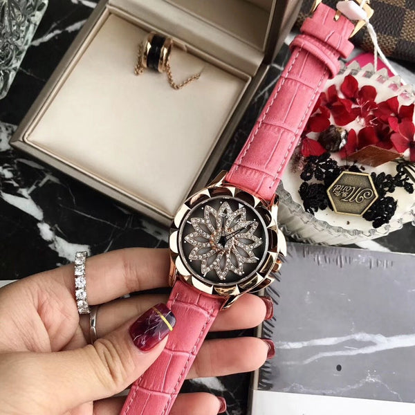 Trendinggate.com Rose red 2019New Martha's time to run the watch female YJ Six fashion trend waterproof student atmospheric minimalist female