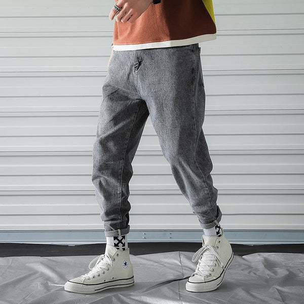 Trendinggate.com 2019New Men's Summer Wear Thin Nine-cent Jeans Fashion Leisure Loose Bottom Pants Fashion Youth