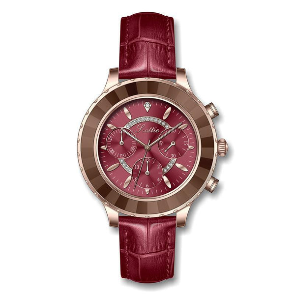Trendinggate.com [medicine]russet 2019New Poetry Gaudi Fashion Women's Watch Student's Simple Atmospheric Personality Belt Waterproof Watch