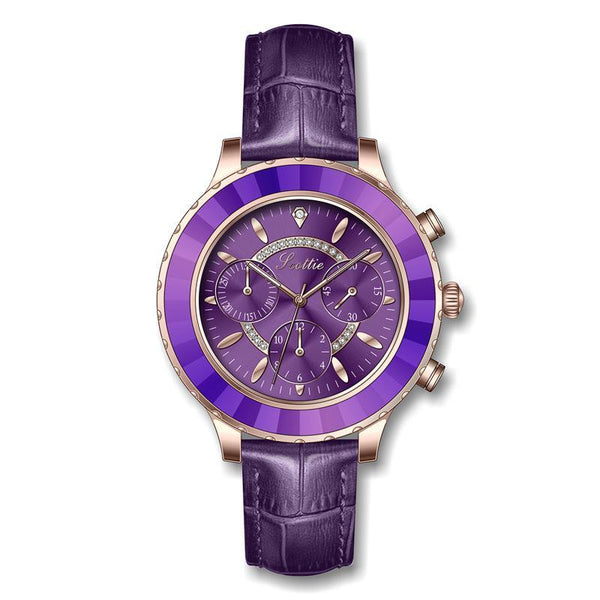 Trendinggate.com purple 2019New Poetry Gaudi Fashion Women's Watch Student's Simple Atmospheric Personality Belt Waterproof Watch
